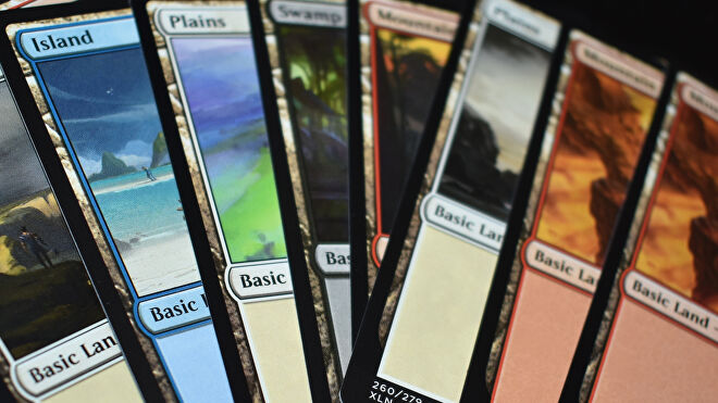 Magic: The Gathering trading card game land cards
