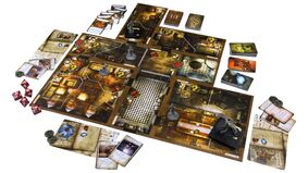 Mansions of Madness: Second Edition horror board game gameplay layout