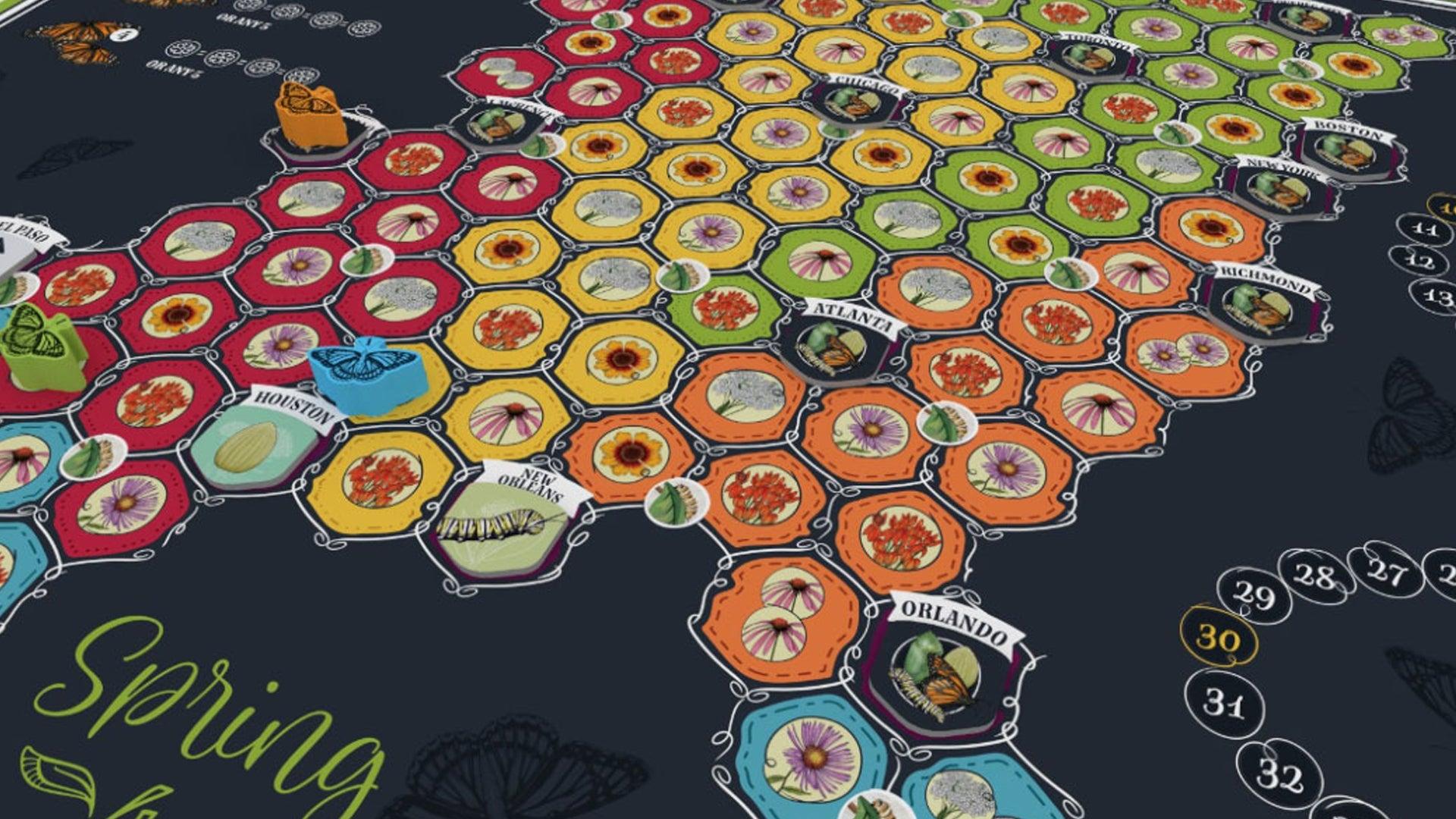 Mariposas board game board