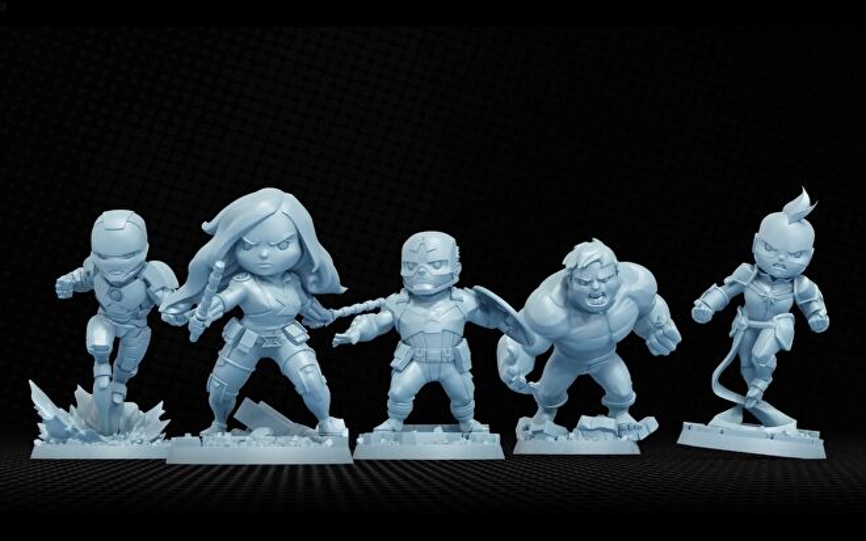 Marvel United board game minis