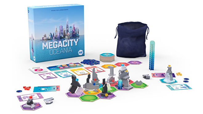 MegaCity: Oceania board game components