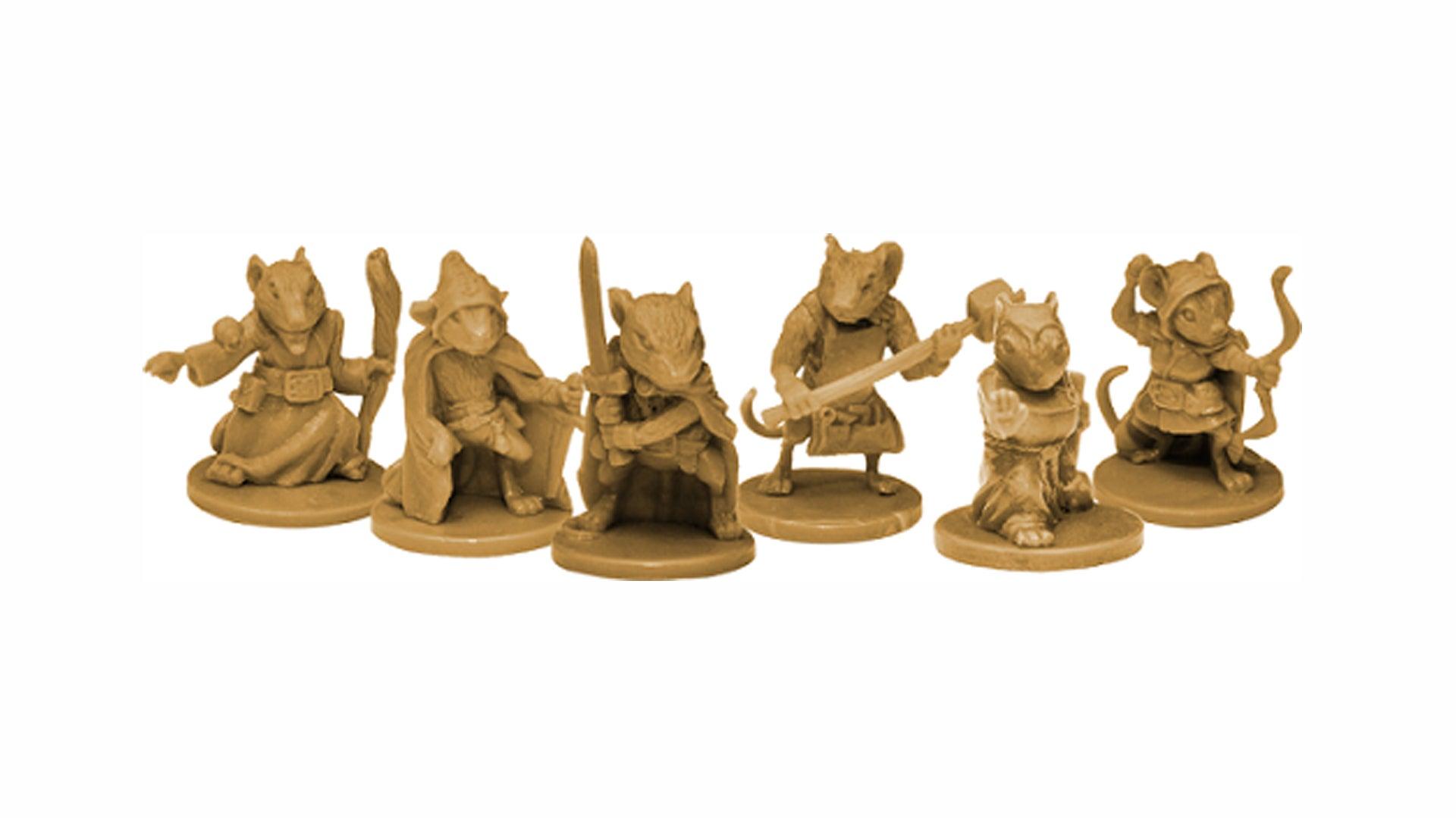 Mice and Mystics board game minis