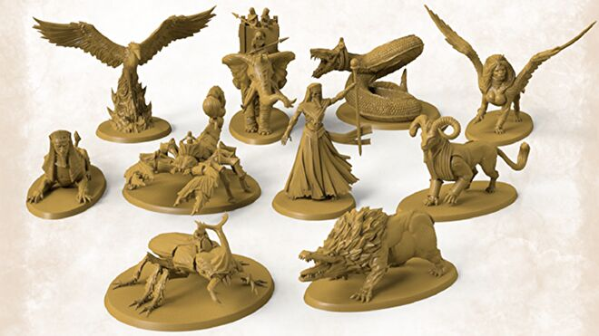 Miniatures Kemet: Blood and Sand board game
