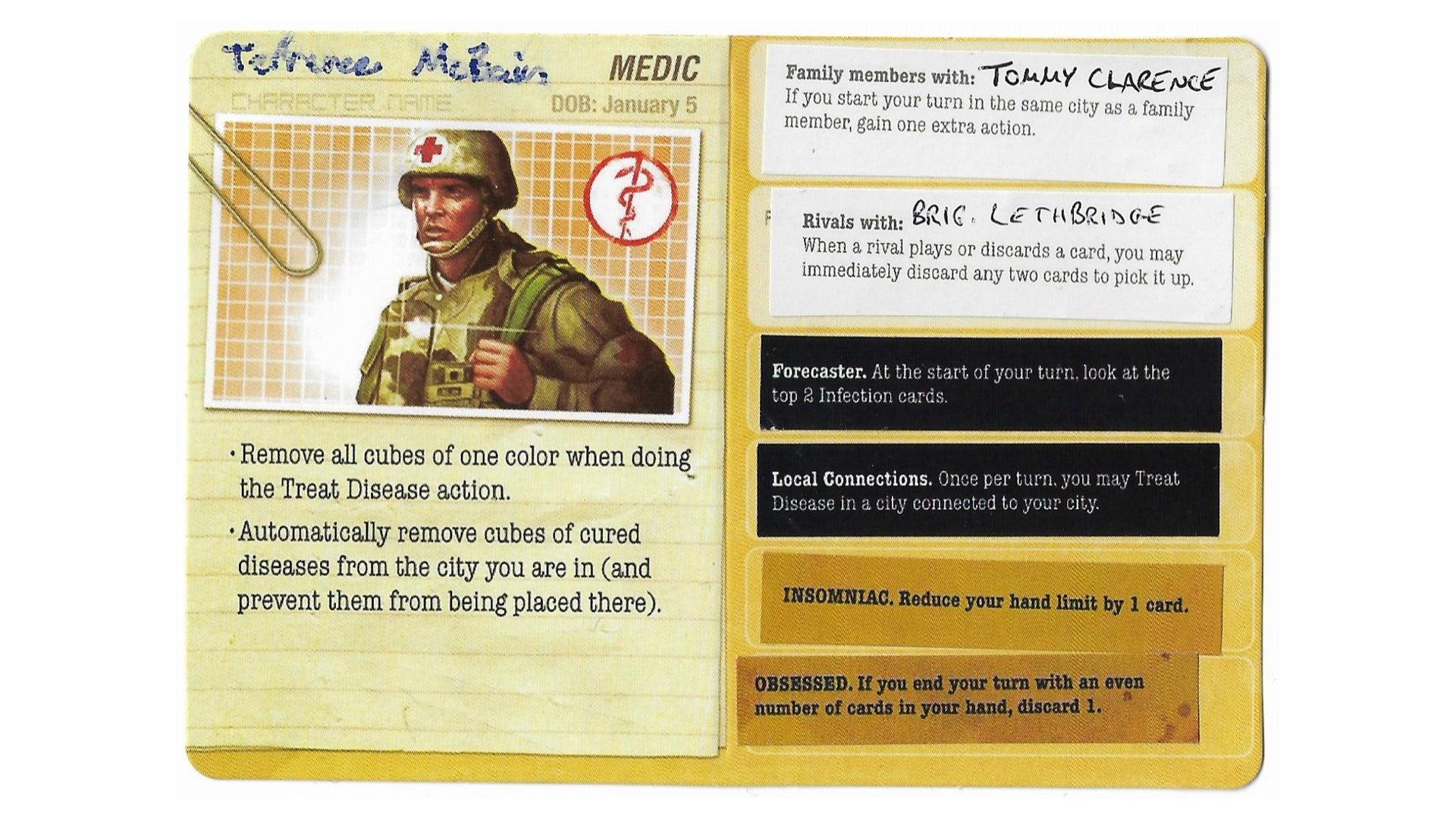 A modified board game