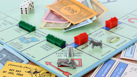 Monopoly board game gameplay close-up