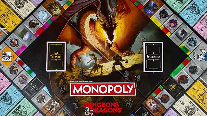 Monopoly: Dungeons & Dragons board