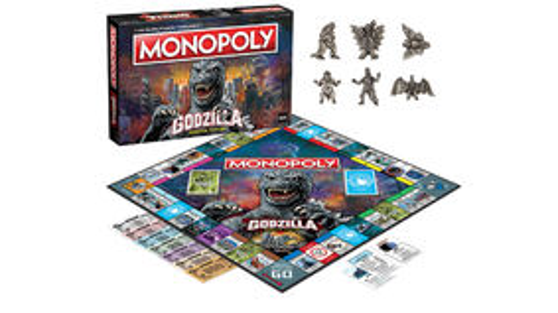 Monopoly: Godzilla Monster Edition board game artwork