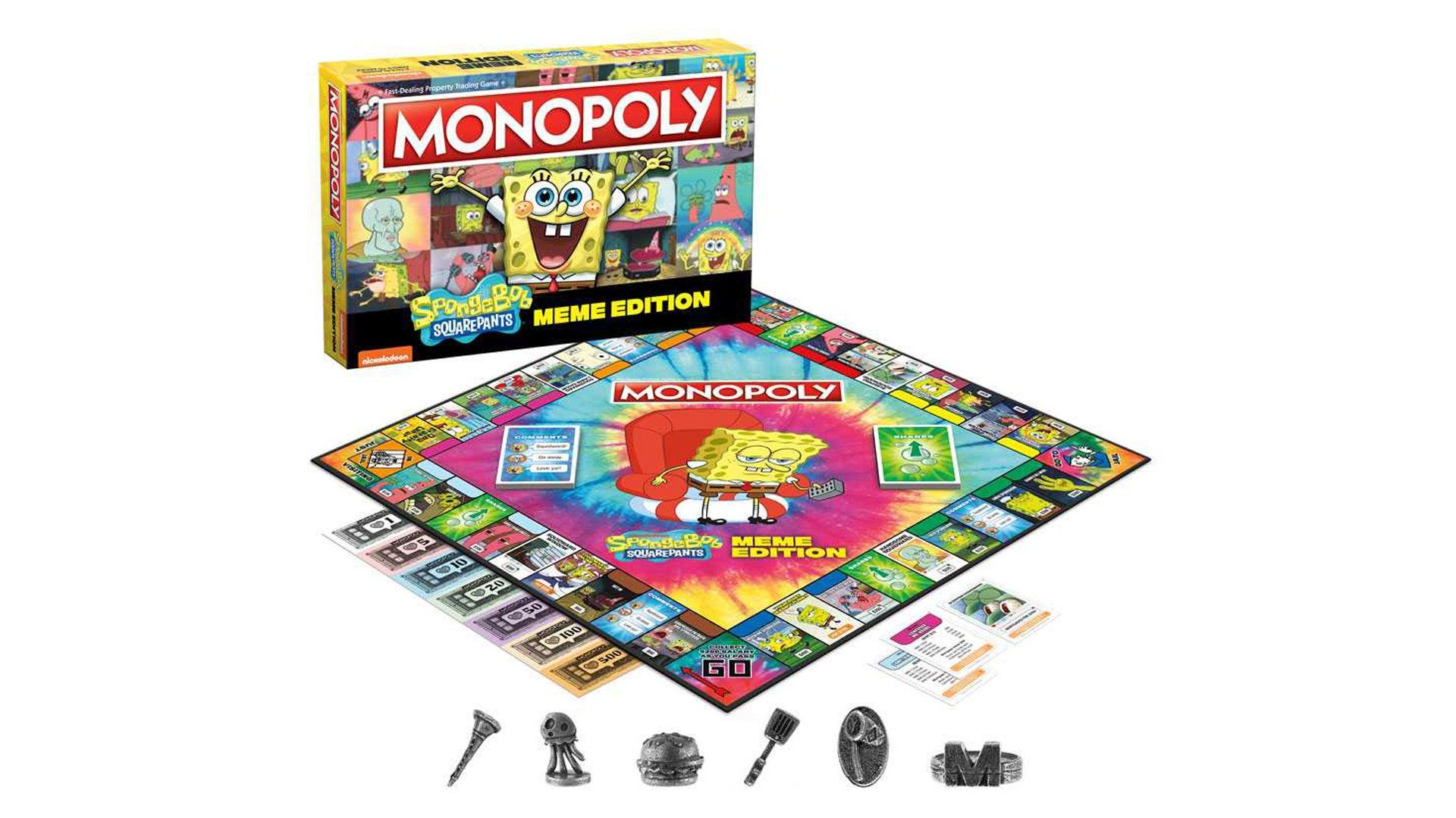 Monopoly: Spongebob Squarepants Meme Edition layout