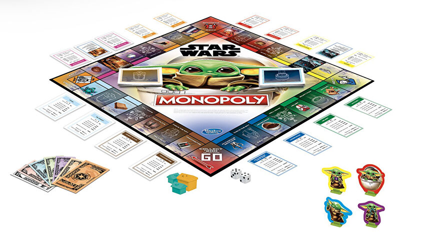 Monopoly Star Wars: The Child board game layout