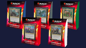 Image for Pick up all five Commander decks from Magic: The Gathering's Ikoria: Lair of Behemoths set for 35% off
