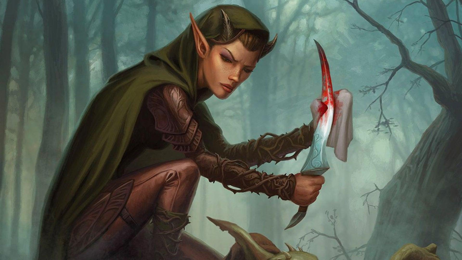 Magic: The Gathering Eyeblight Assassin card artwork