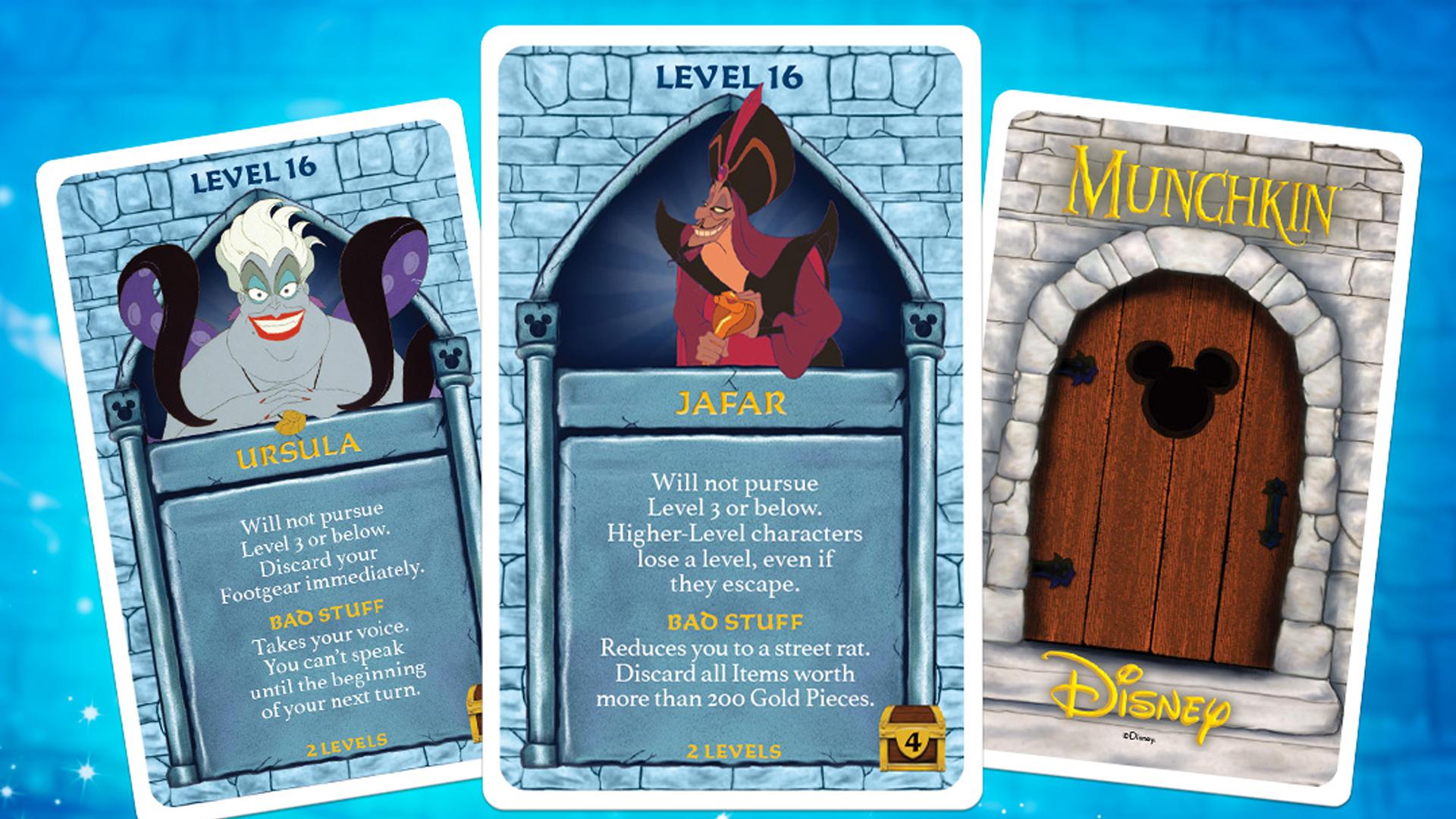 Munchkin: Disney board game cards