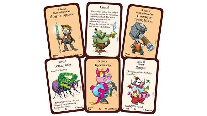 Munchkins and Mazes board game cards