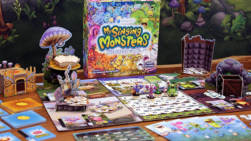 My Singing Monsters: The Board Game layout