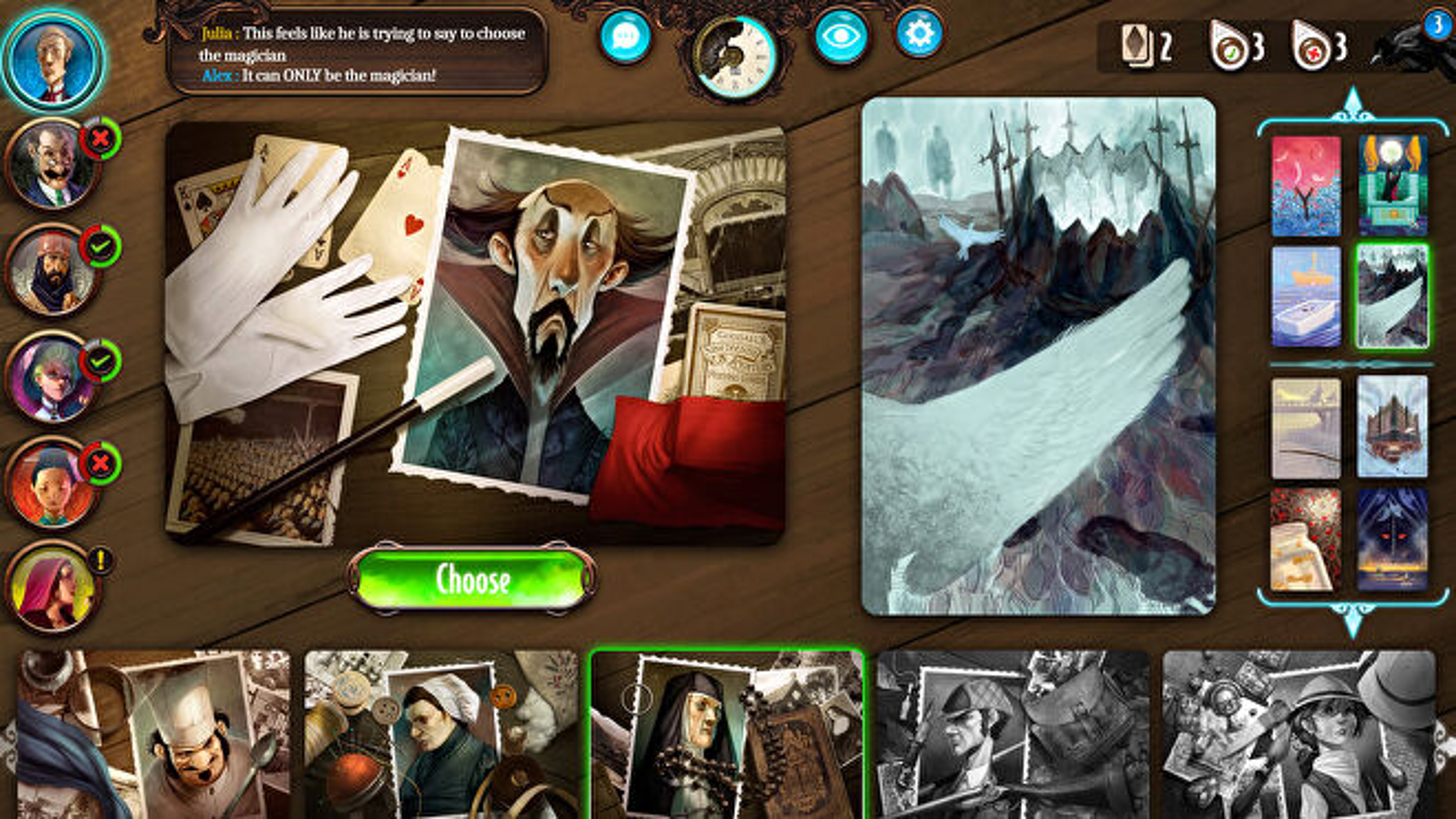 Mysterium digital board game screenshot