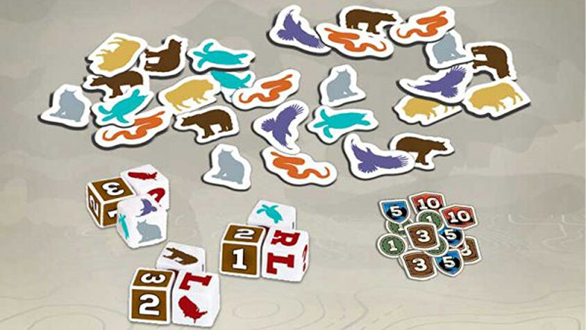 National Parks: Get Wild board game tokens