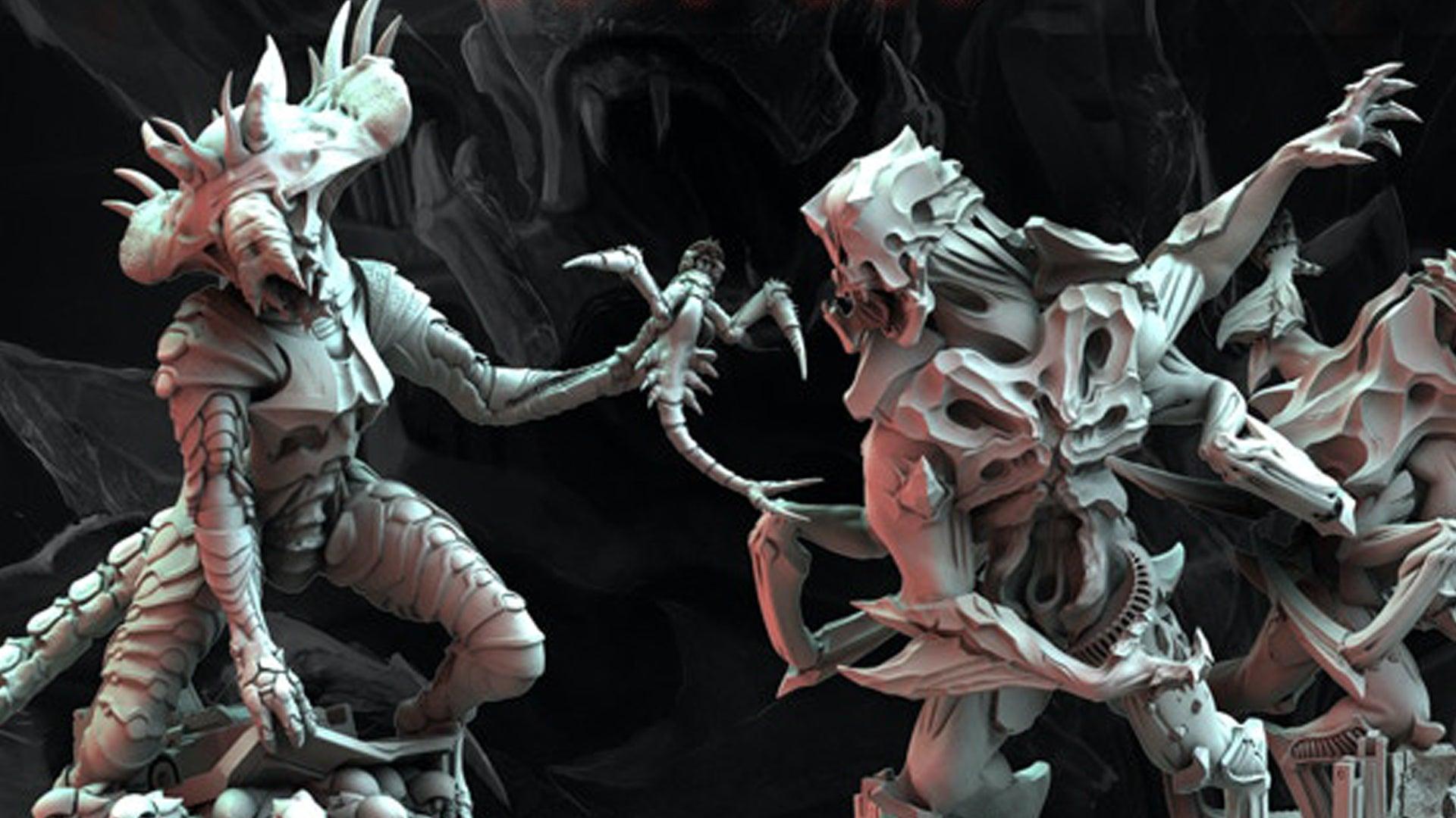 Nemesis Lockdown board game miniatures