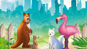 New York Zoo board game artwork
