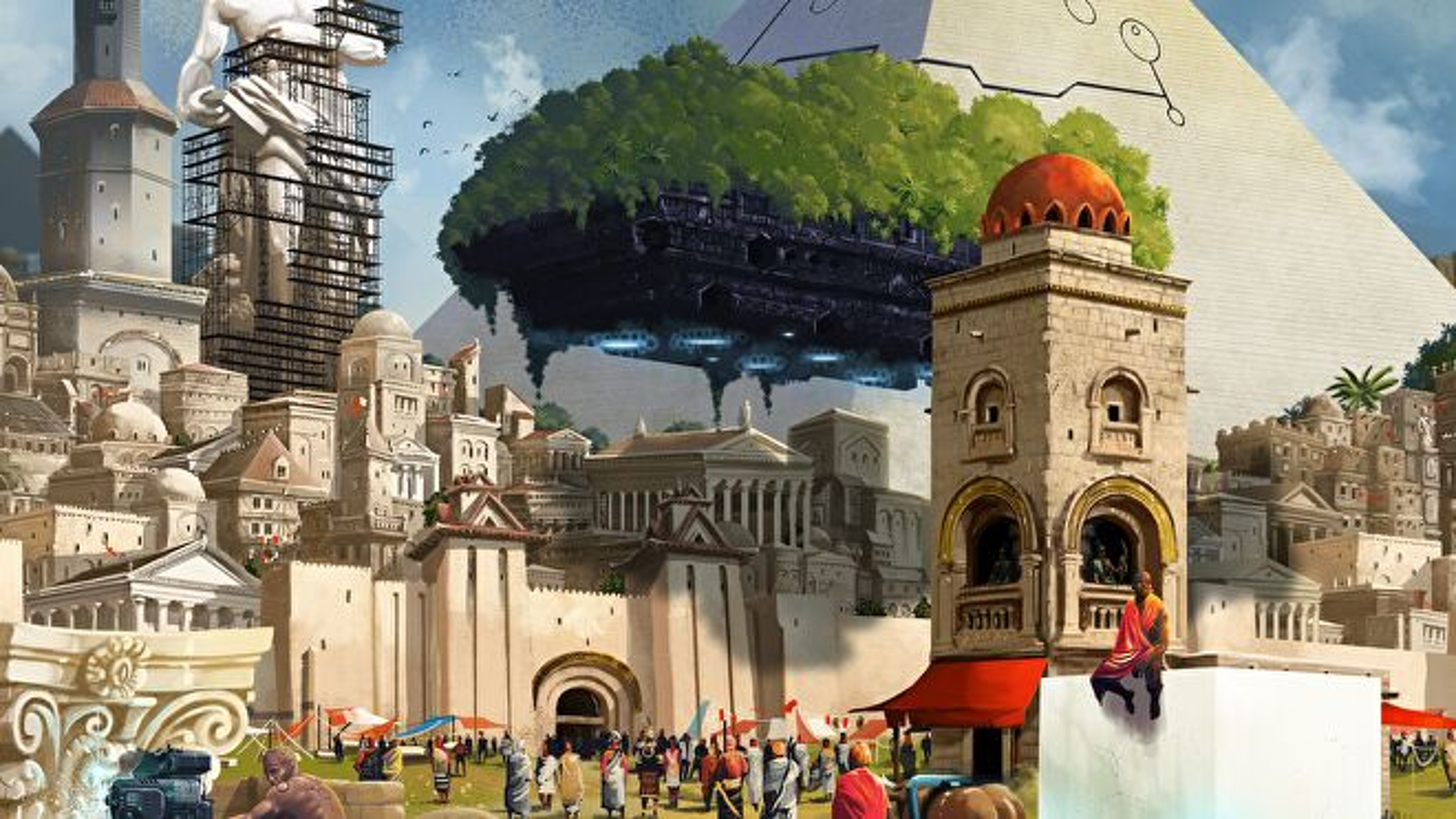 Origins: First Builders board game artwork