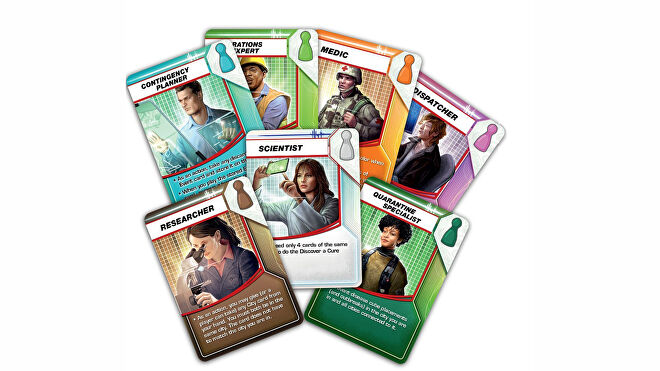 Pandemic board game card fan