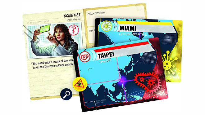 Pandemic Legacy: Season one board game card fan