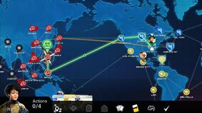 Pandemic video game layout screenshot