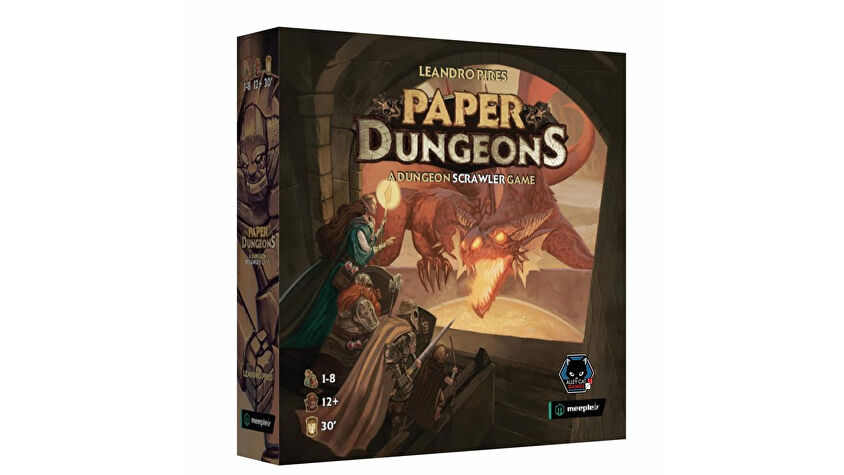 Paper Dungeons Board Game box
