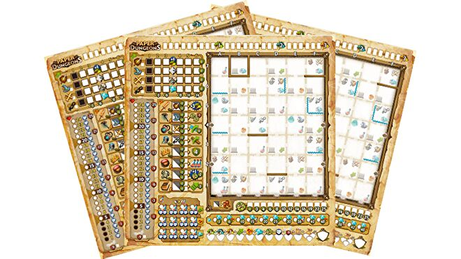 Paper Dungeons Board Game scoresheets