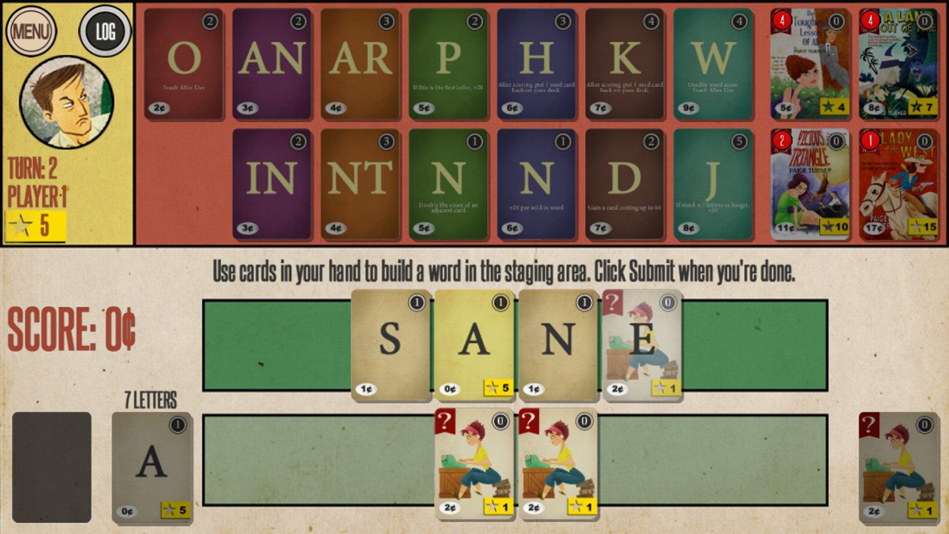Paperback digital board game screendshot