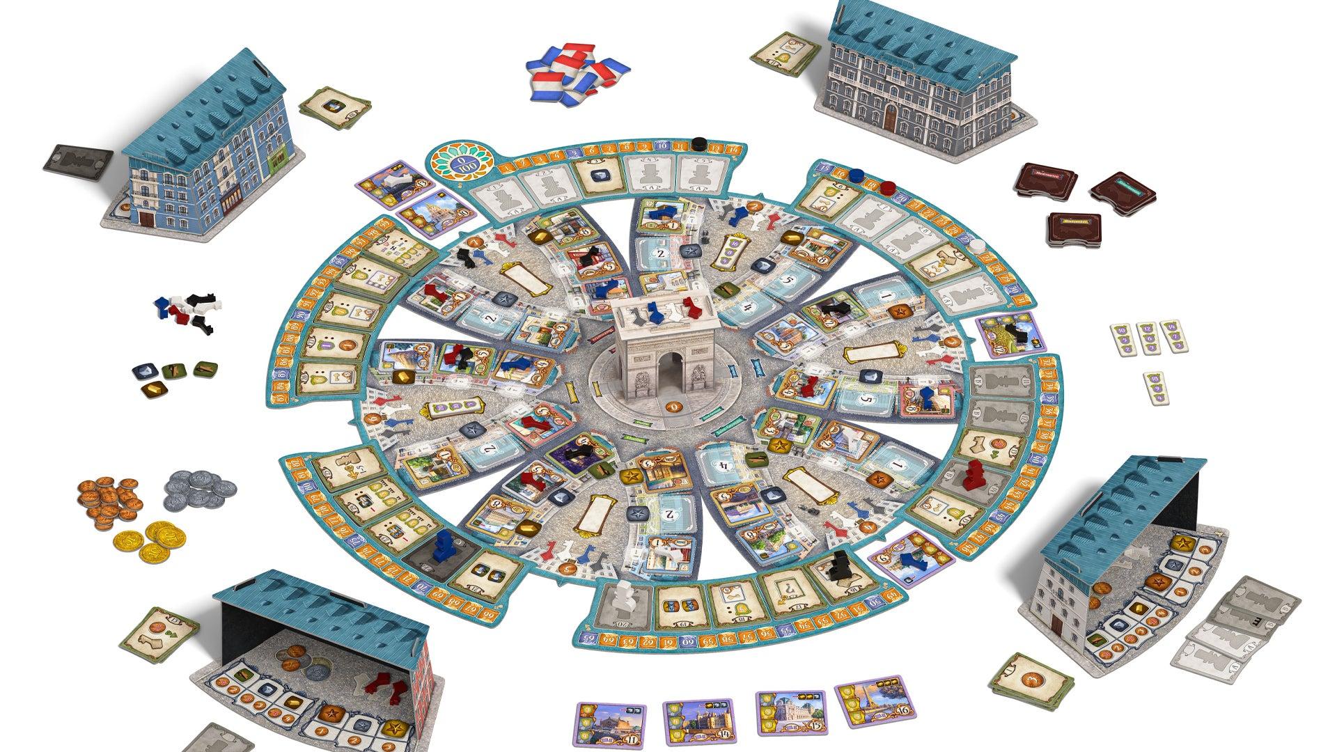 Paris board game layout 2