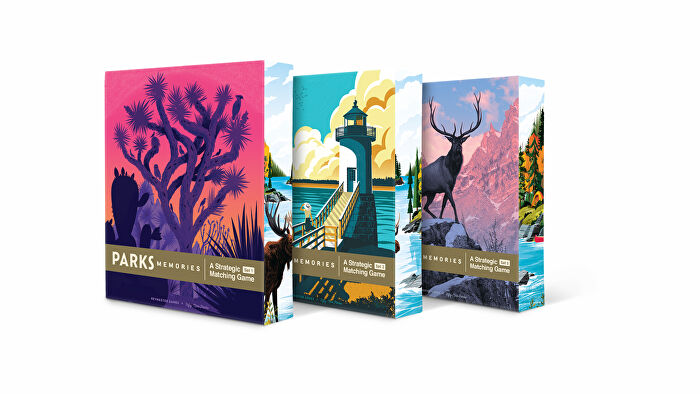 Parks: Memories board game boxes