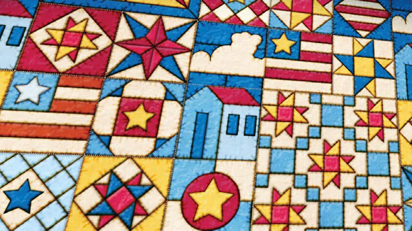 Patchwork: Americana Edition board game artwork