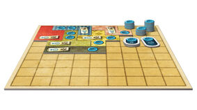 Patchwork board game layout flat