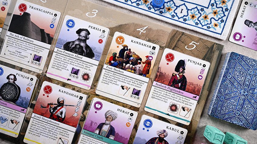 Pax Pamir 2E board game cards lifestyle