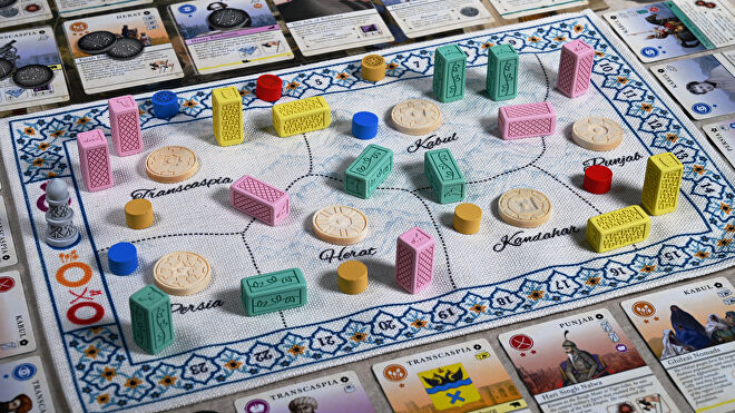 Pax Pamir 2E board game gameplay lifestyle