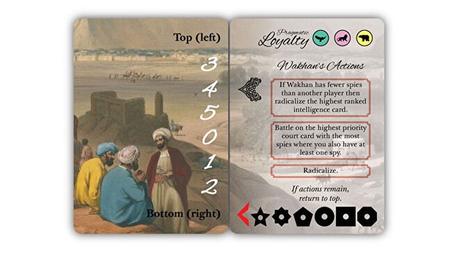 Pax Pamir: Second Edition 2019 strategy board game Wakhan solo cards
