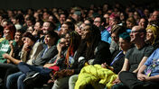 A panel audience at PAX.