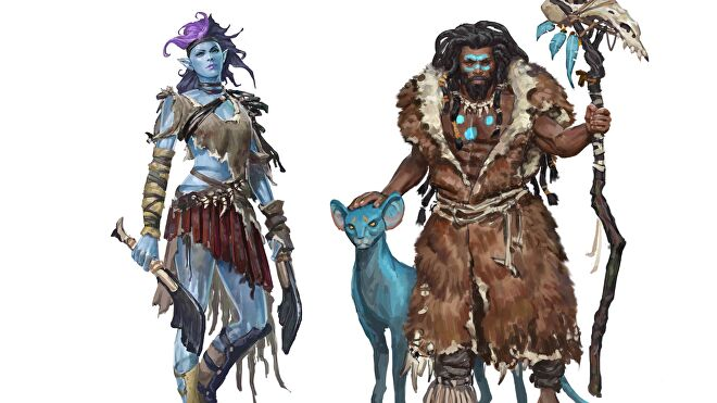 Planagea characters artwork