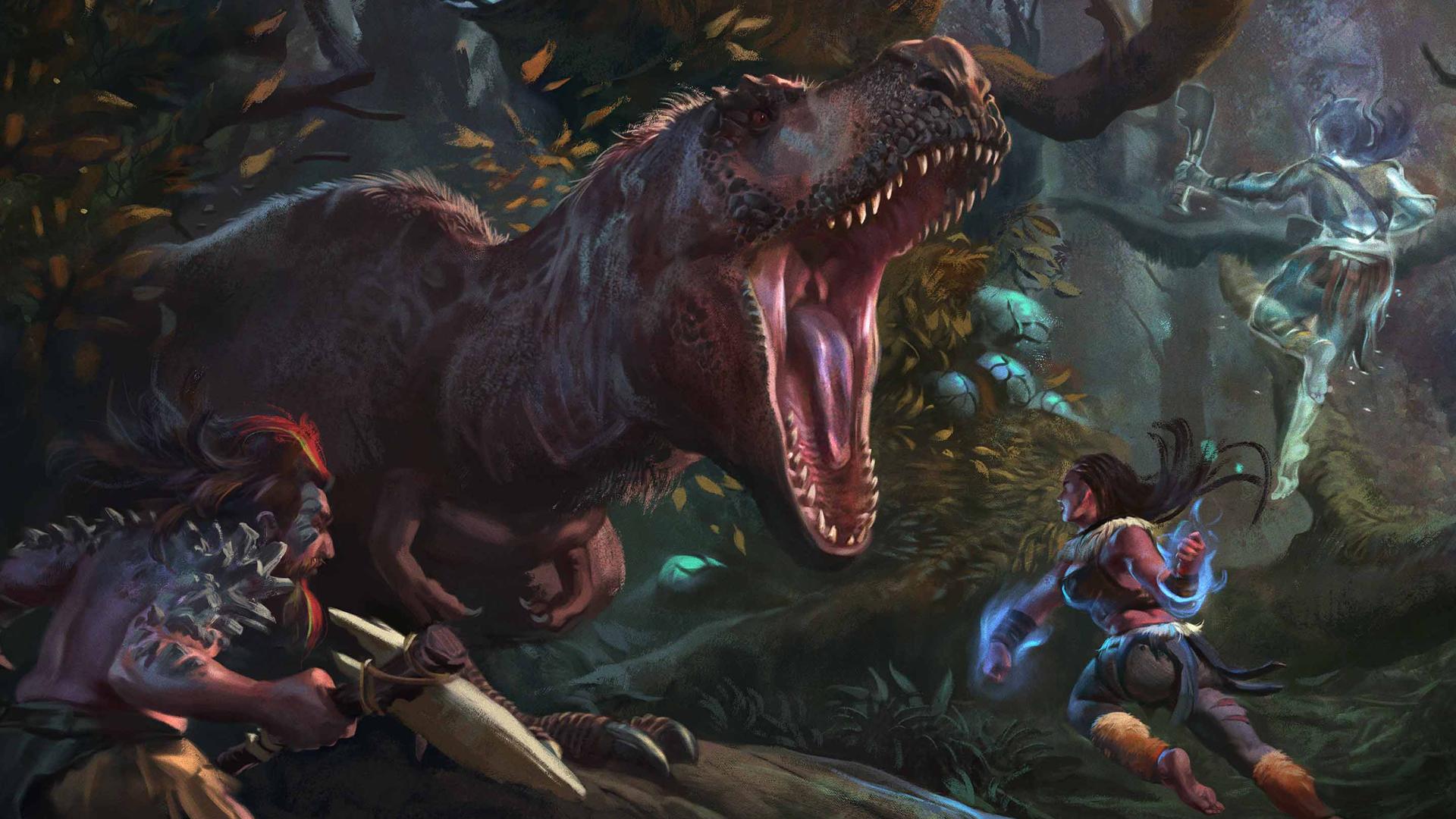 Planegea T-Rex artwork