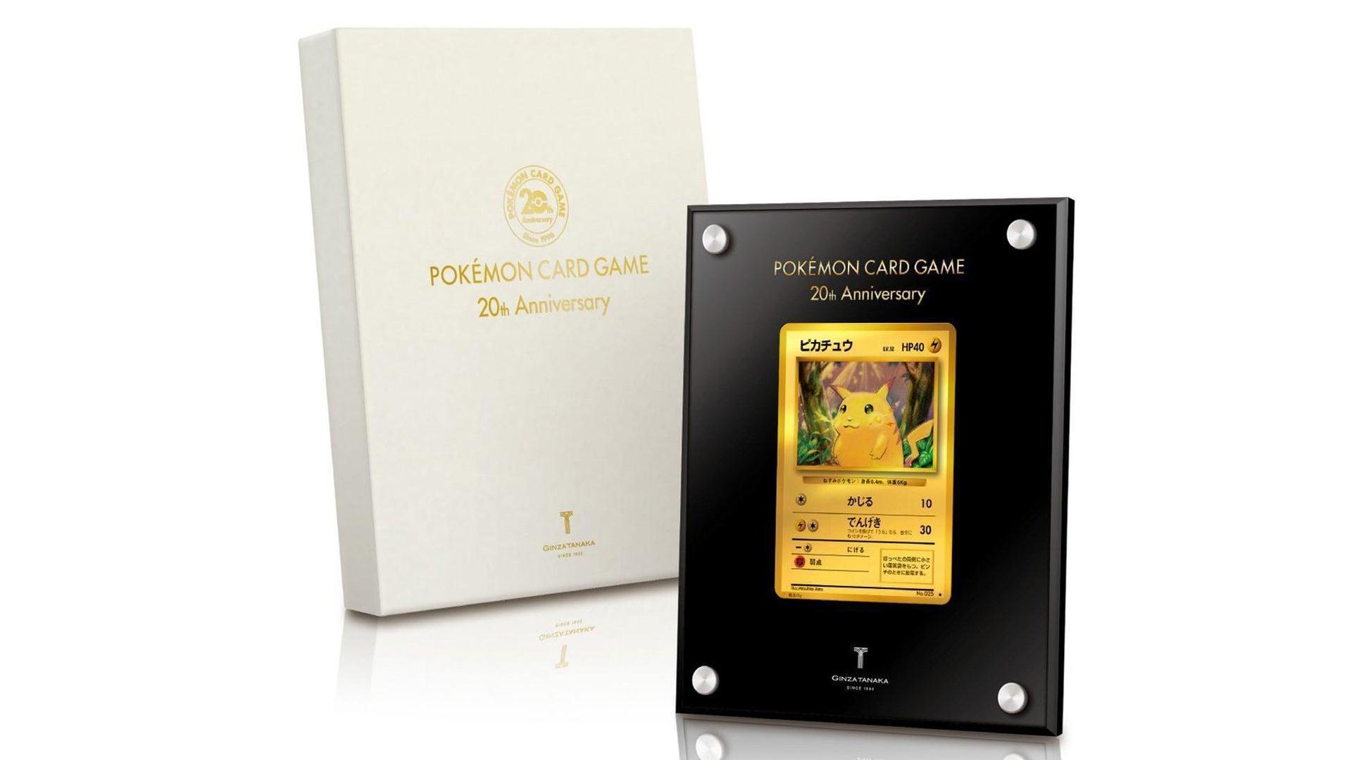 20th Anniversary 24-karat Gold Pikachu Pokémon card