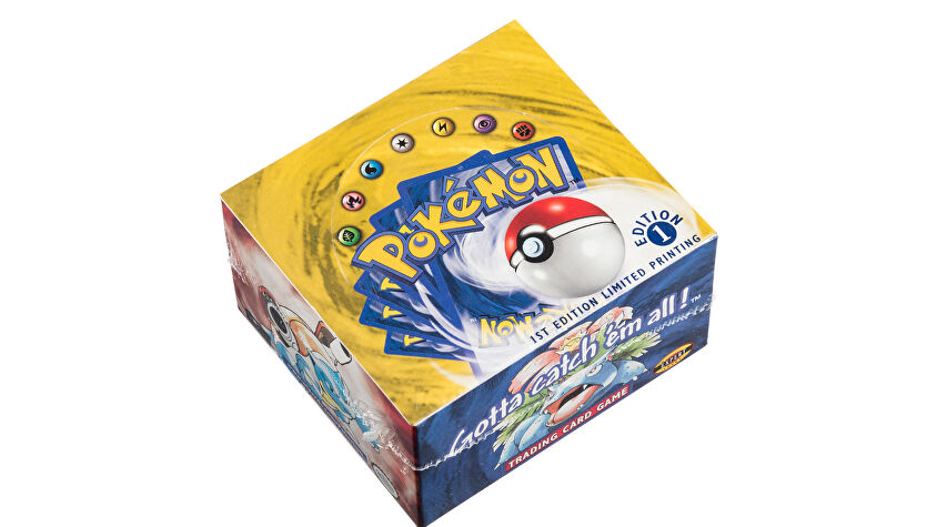 Pokémon trading card booster box