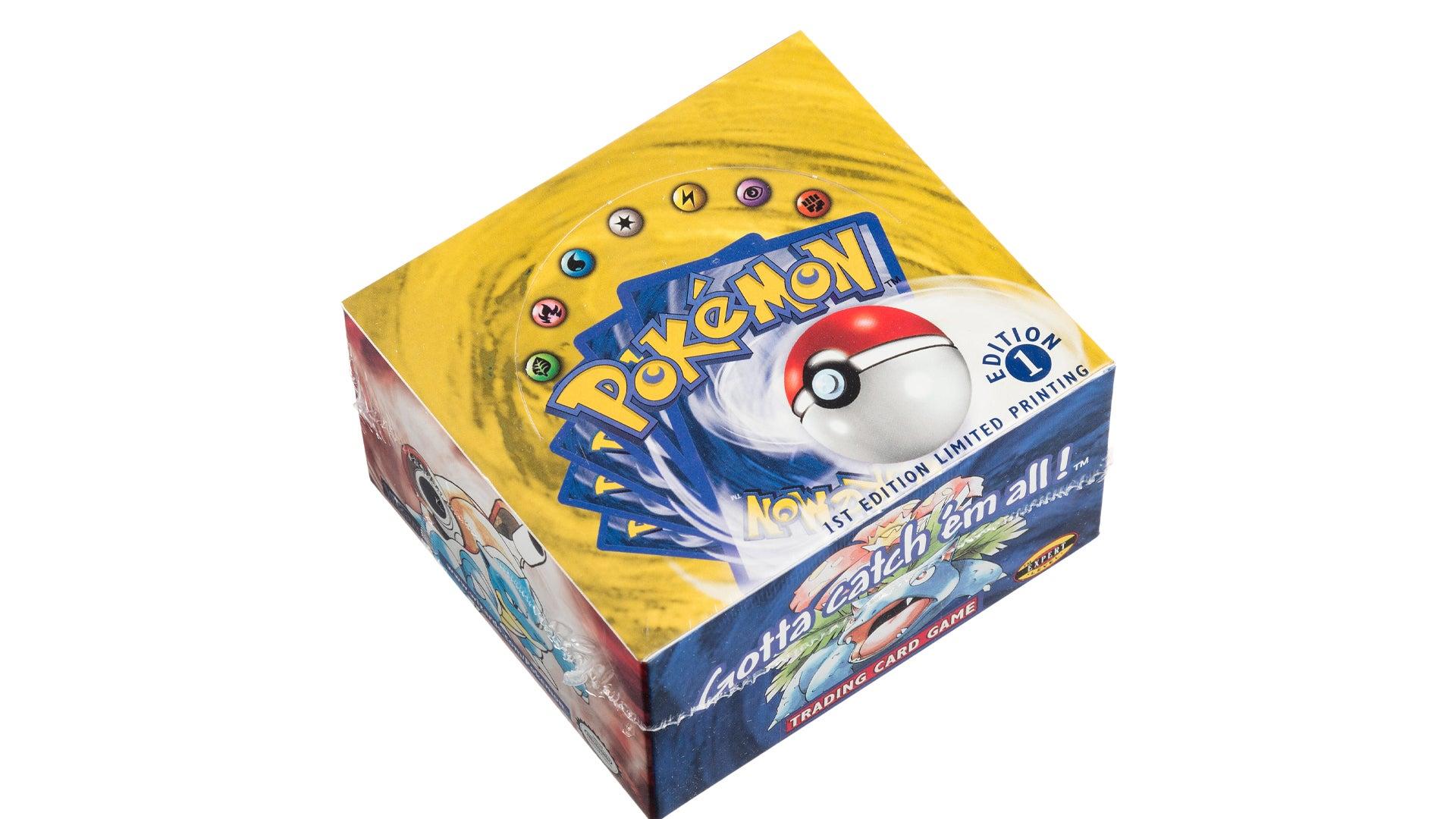 Pokémon trading card booster box