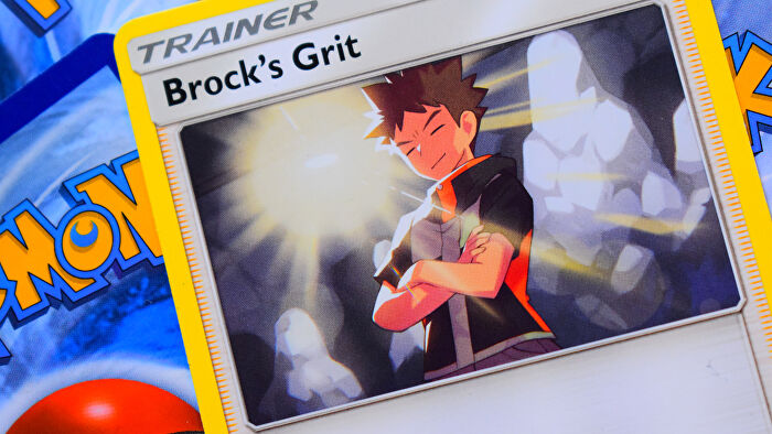 Pokemon Trading Card Game card Brock's Grit