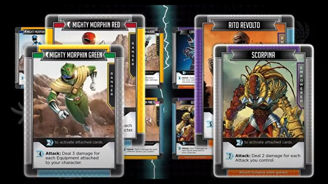 Power Rangers: Deck-Building Game cards