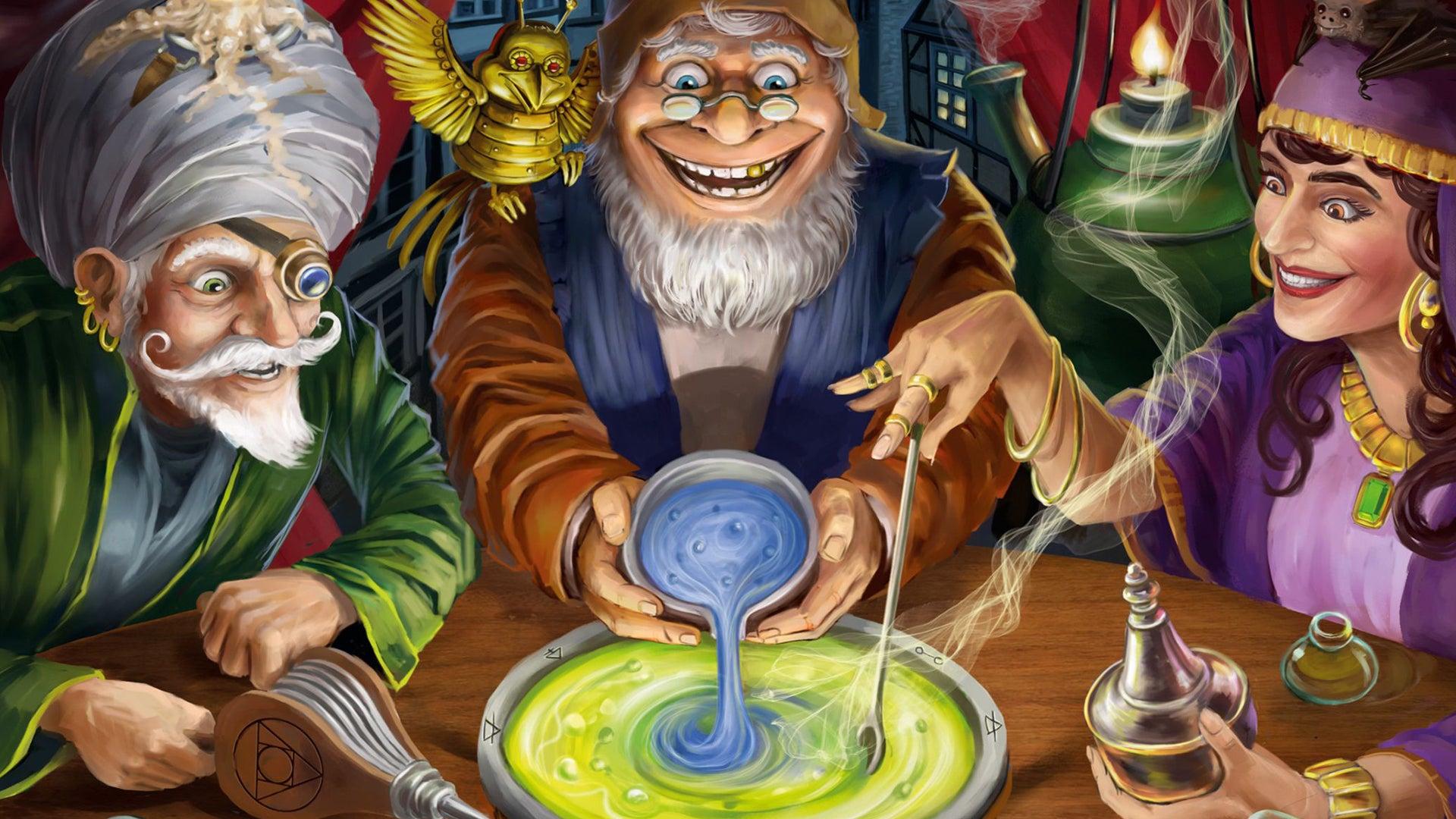 Quacks of Quedlinburg: The Alchemists board game artwork