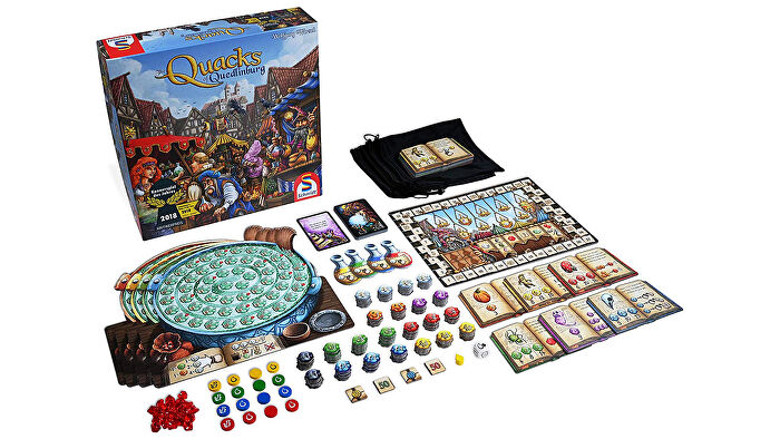 The Quacks of Quedlinburg board game box and components