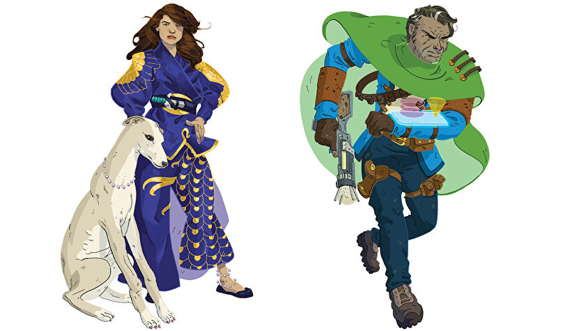 Quest RPG expansion character artwork