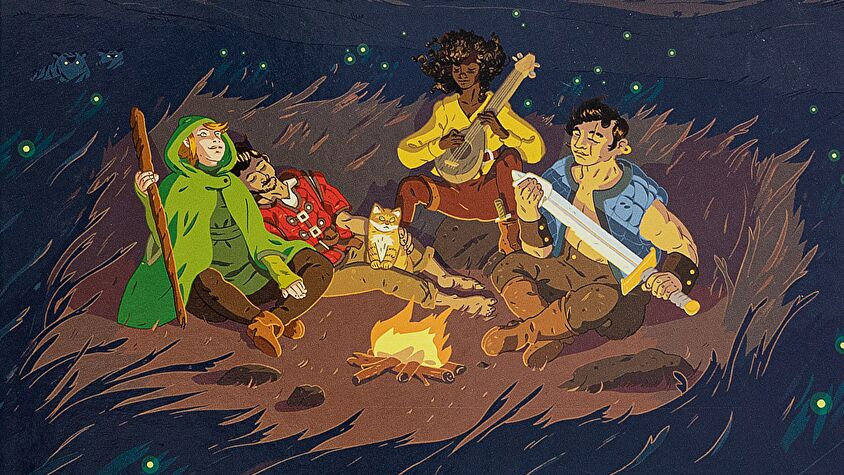 Quest roleplaying game artwork