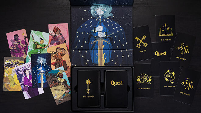 Quest roleplaying game card box