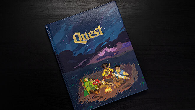 Quest roleplaying game hardcover rulebook